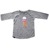 L&P Baseball Style Jersey Girls T-Shirt - Grey