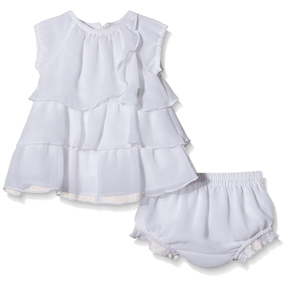 3 Pommes SET Cocktail Infant Girls' Dress - White