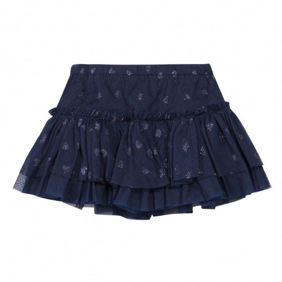 3 Pomme Baby Girl Skirt - Navy