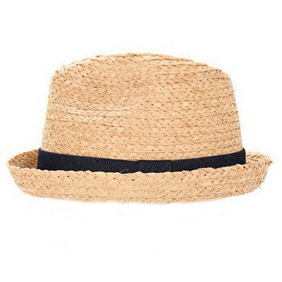 Appaman Boys  Fedora Straw Hat- Light Brown