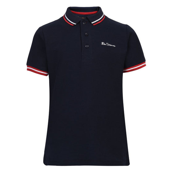 Ben Sherman Boys Navy Short Sleeve Polo