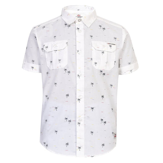 Ben Sherman Boys Palm Tree Utility Shirt