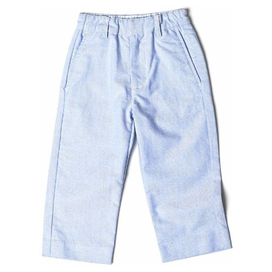 Egg Baby Boys Semi-Dressy Cotton Twill Pants - Light Blue
