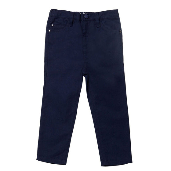 Egg Baby Brushed Cotton Pants - Navy