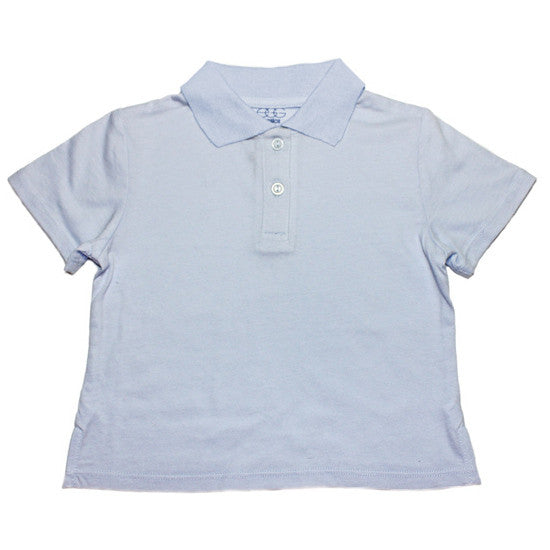 Egg Baby Jersey Short Sleeve Polo Shirt - Light Blue