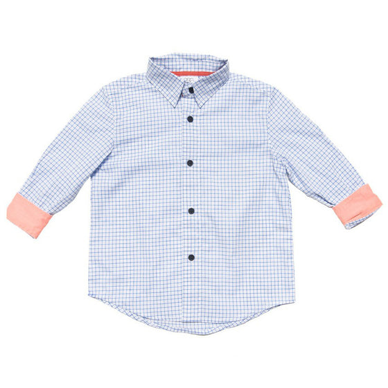 Egg by Susan Lazar Button Down Shirt - Light Blue
