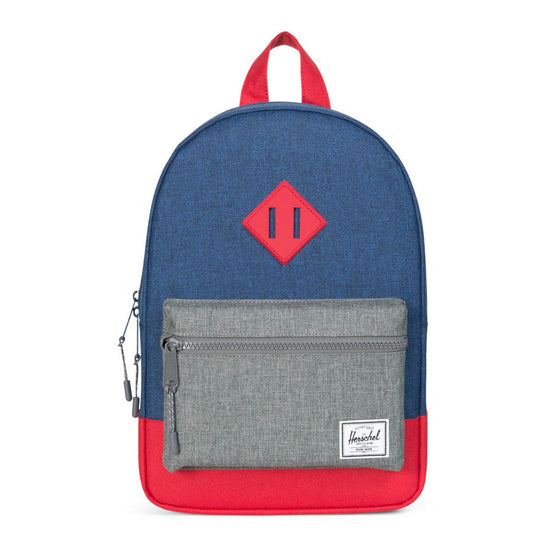 Herschel Youth Herschel Kids Heritage Backpack - Eclipse Crosshatch/Raven Crosshatch/RedBackpack - Eclipse Crosshatch/Raven Crosshatch/Red
