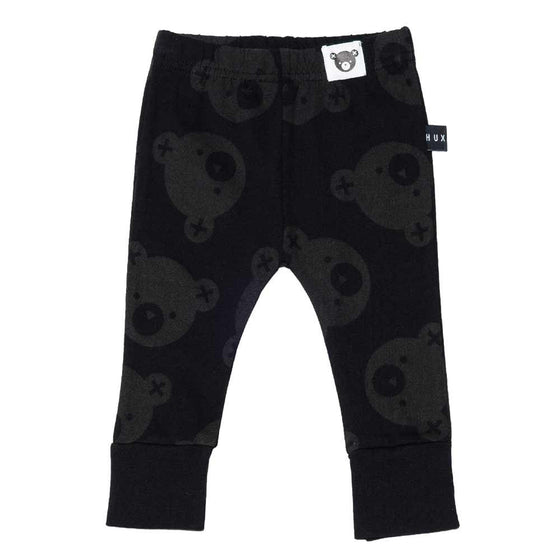 HuxBaby Soldier Bears Skinny Legging - Black