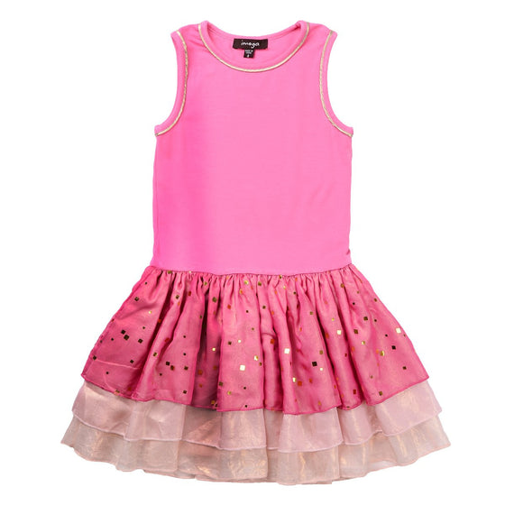 Imoga Rosanne Tulip Girls Dress  - Pink