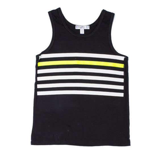 Joah Love Boys Stripe Tank Top - Black