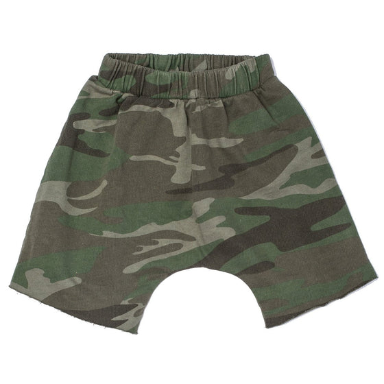 Joah Love Brenden Raw Hem Shorts - Camo Fern