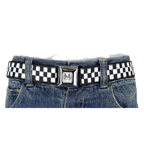 Press Belts Kids Adjusatable Belts - Black/White Checkers