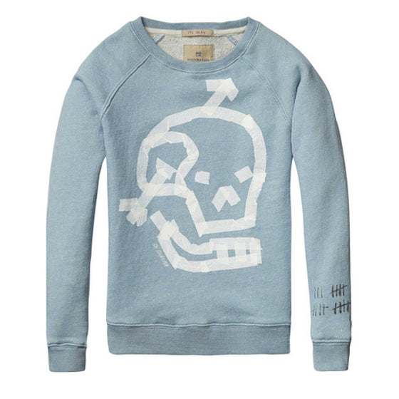 Scotch and Soda Boys Skull Sweatshirt - Blue