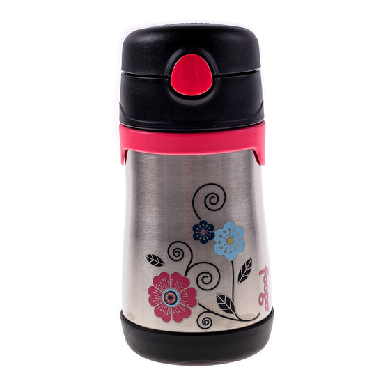 Foogo Insulated Kids Straw Bottle - Poppy Patch