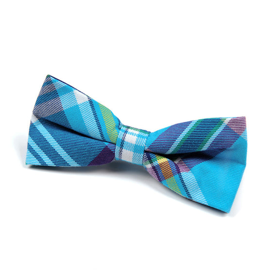Copy of Appaman Bow Tie - Aqua Plaid