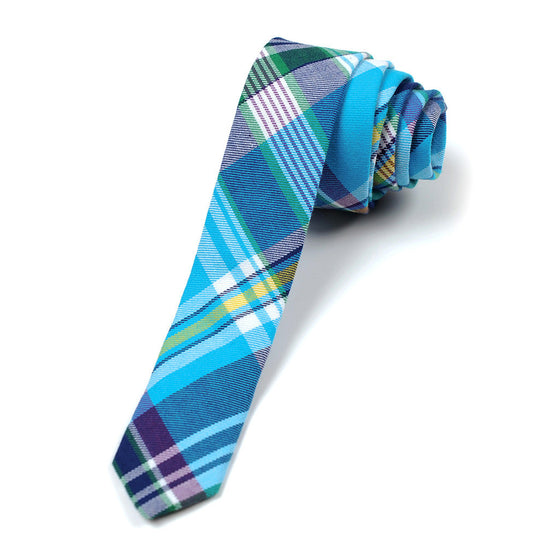 Appaman Boys Tie - Aqua Plaid