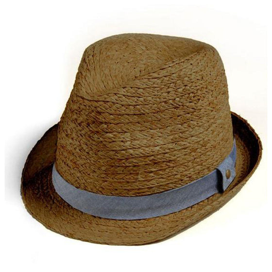 Appaman Boys  Fedora Straw Hat- Brown