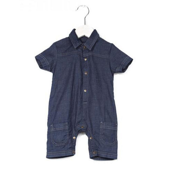 Imps and Elfs Baby Romper - Dark Denim