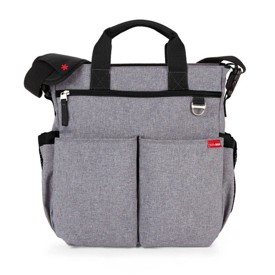 Skiphop Duo Signature Diaper Bag - Heather Grey
