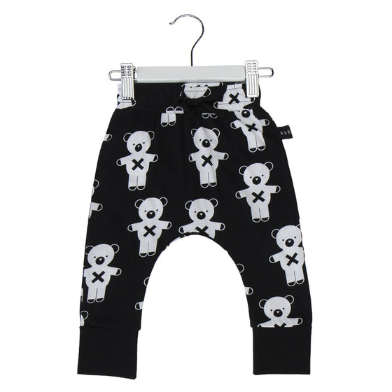 HuxBaby Soldier Bears Drop Crotch Pant - Black