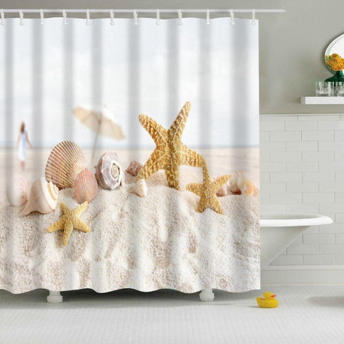 Beach Polyester Shower Curtains