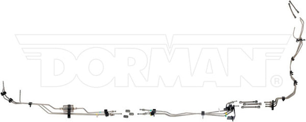DFL0002SS - 01-03 GM 2500HD/3500 Crew Cab V8 Gas Fuel Lines; Stainless