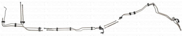 DFL0001SS - 01-03 GM 2500HD/3500 Crew Cab 6.6L Complete Fuel Line Kit; Stainless