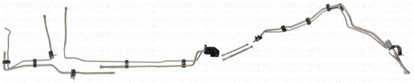 DFL0003SS- 01-03 GM 2500HD/3500 Ext Cab Pickup 6.6L Duramax Diesel Complete Fuel Line Kit; Stainless