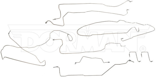 FL919101- 03-04 GM 1500 4wd Ext/Crew Cab, Short Bed Non HD Complete Brake Line Kit; Stainless