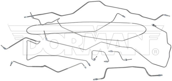 FL919236 - 95-01 Jeep Cherokee non-ABS; Complete Brake Line Kit; Stainless