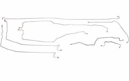 CBK0173OM- 03-06 Tahoe, 2 WD, Traction Control; Complete Brake Line Kit; Steel