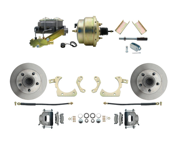BDC0001- 55-57 Chevy Front Disc Brake Conversion Kit with 8'' Booster