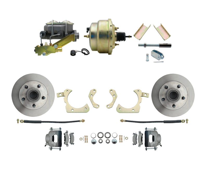 BDC0001- 55-57 Chevy Front Disc Brake Conversion Kit with 8'' Booster - SSTubes