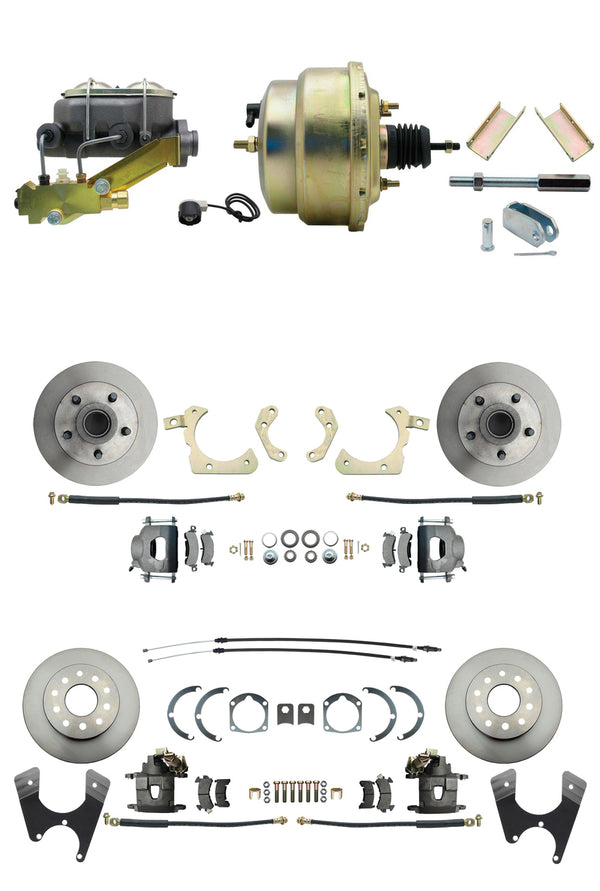 BDC0003- 55-57 Chevy Front & Rear Disc Brake Conversion Kit with 8'' Booster