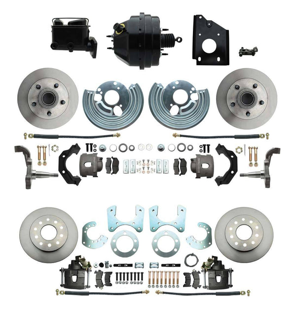 DBK6272834-BCK8536-1 - 1966-1970 B Body Front & Rear Disc Brake Conversion Rotor Kit & O.E.M. Booster Conversion w/ Casting Number