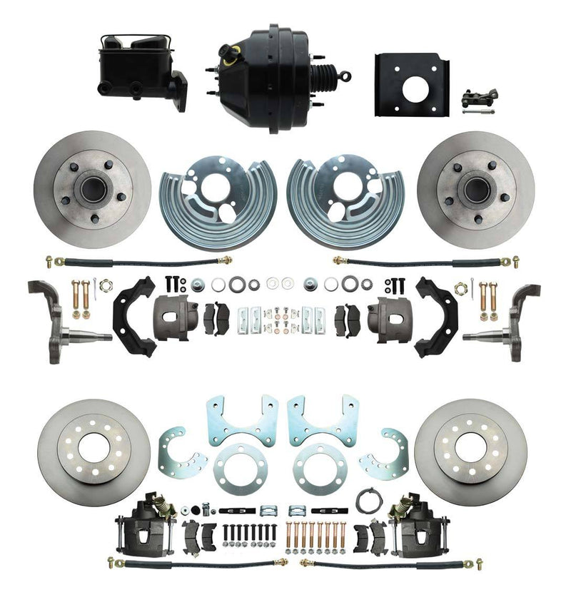 DBK6272834-BCK8536-2 - 1966-70 B Body 71-74 E Body O.E.M. Style Front & Rear Disc Brake Kit & Booster Conversion w/ Casting Numbers - SSTubes