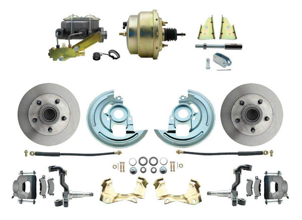 "ADC0003- 64-72 GM A-Body Front Disc Brake Conversion Kit with Delco Valve & 8"" Booster"