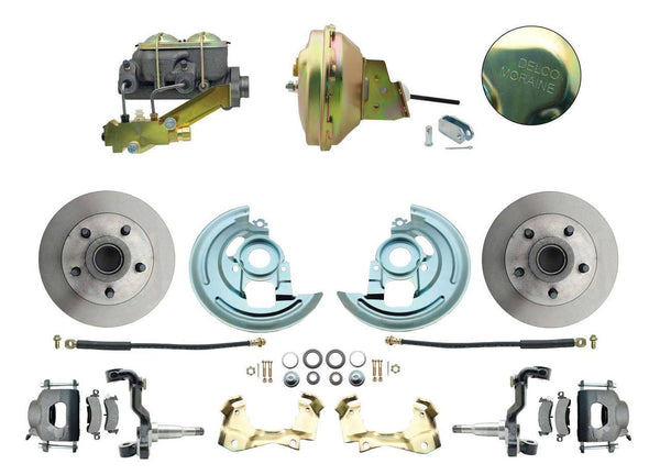"ADC0002- 64-72 GM A-Body Front Disc Brake Conversion Kit with Delco Valve & 9"" Booster"