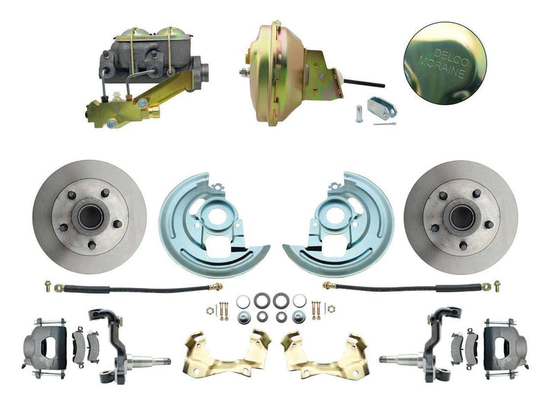 "FDC0002- 67-69 GM F-Body Front Disc Brake Conversion Kit with Delco Valve & 9"" Booster - SSTubes"