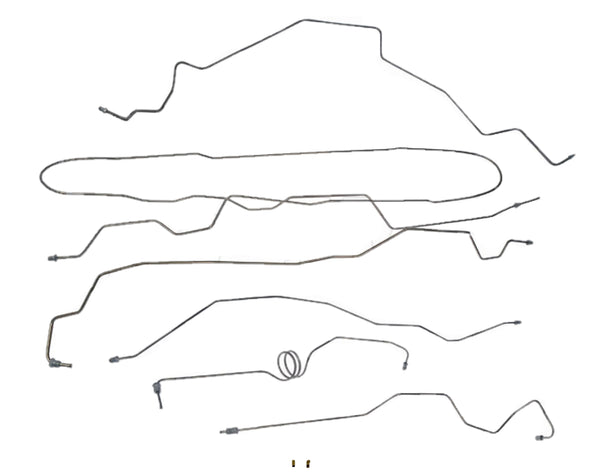 FL919228- 99-01 Ford F-250 / F-350 Super Duty 4wd, RWABS, Extended Cab Long Bed, Complete Brake Line Kit; Stainless