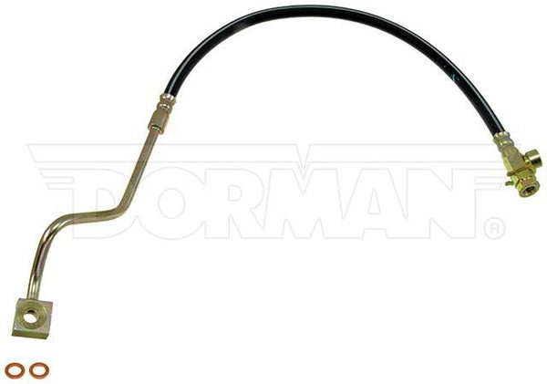 FLH381184- 99-01 Ford F-250 / F-350 Super Duty 4WD RWABS Left Front Brake Hose; Rubber - SSTubes