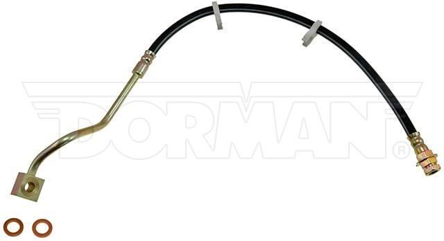 FLH381185- 99-04 Ford F-250 / F-350 Super Duty 4WD AWABS Left Front Brake Hose; Rubber