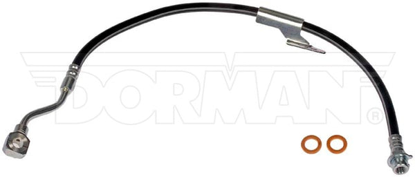 FLH38621- 88-00 GM C1500, C2500, C3500 with Gas Engine, Right Front Brake Hose; Rubber