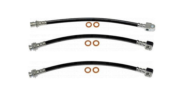 HSK0044OM - 69-72 GM A-Body (Disc) Brake Hose Kit; Rubber