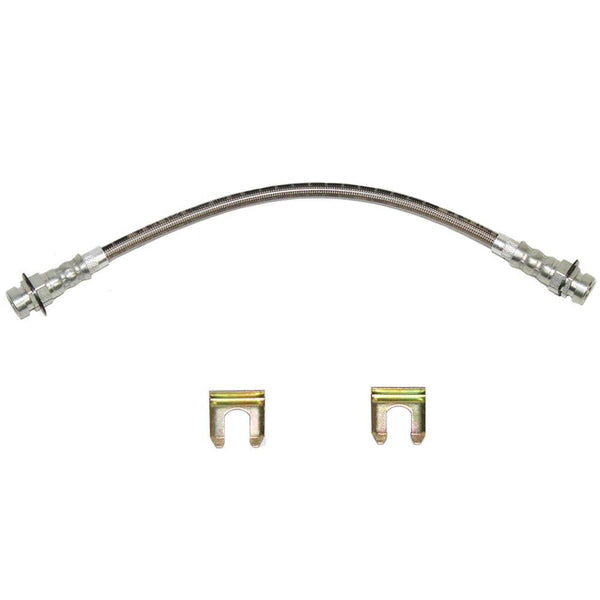 HSP4328SS- 67 Pontiac Lemans & GTO; Front Drum Brake Hose, 2 Required; Stainless - SSTubes