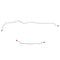LRA6401OM- 64-65 Ford Falcon, 64-65, Mercury Comet, 6cyl Engine, Rear Axle Brake Line; Steel - SSTubes