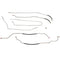 TGL9401SS- 88-95 Chevy K1500 88-95 GMC K1500 Regular Cab/Long Bed 4wd 5.7L Engine Fuel Line Kit; Stainless