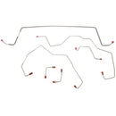 WKT0242SS- 03-05 Liberty, non-ABS, Front Brake Line Kit; Stainless - SSTubes