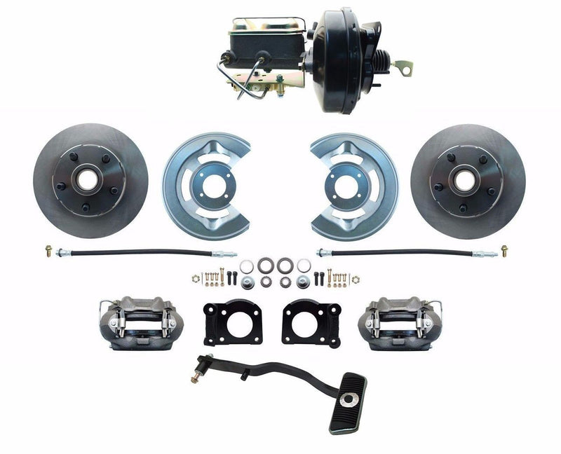 ZDC0002- 67-69 Mustang Power Front Disc Brake Conversion Kit with Disc Front / Drum Rear, Auto Trans Only - SSTubes