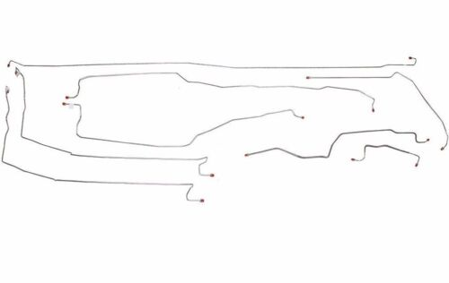 "CBK0190OM - 99-02 Silverado / Sierra 1500, 4WD, Ext, 78"" Bed Brake Line Kit; Steel"